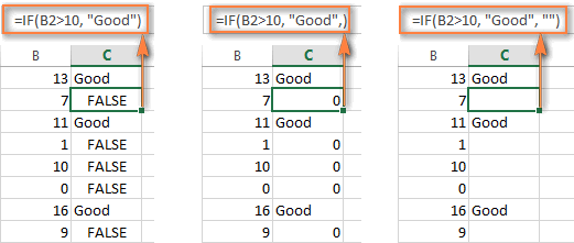 IF formulas with the value_if_false argument omitted