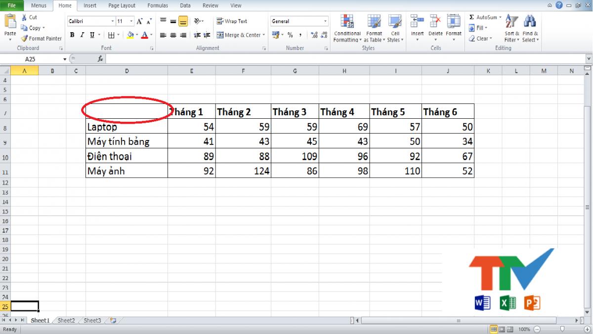 Gạch Chéo ô Trong Excel