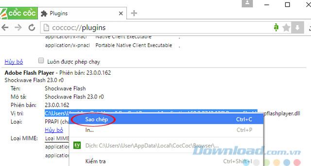 Copy vị trí file Flash