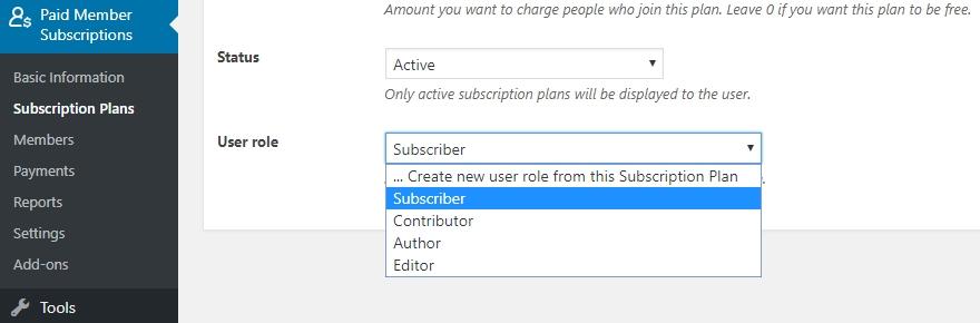 kích hoạt user role