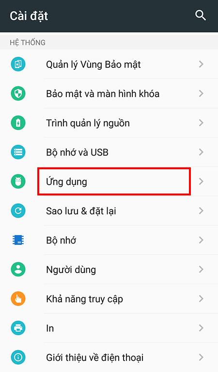 Các gỡ mã độc, virus trên thiết bị Android + Bước 2