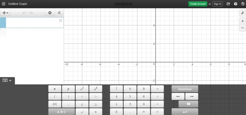 Website của Desmos Graphing Calculator