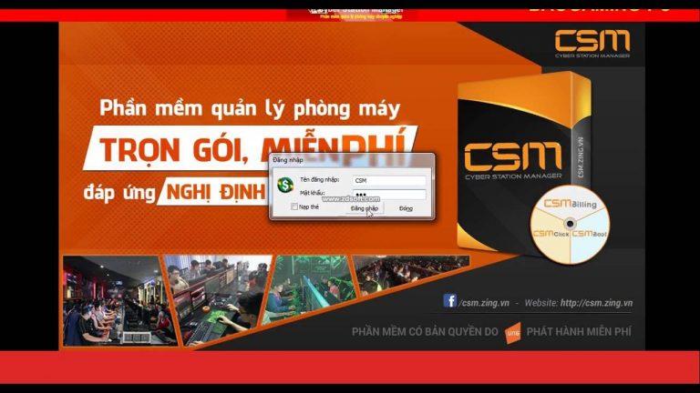 Sử dụng phần mềm quản lý phòng game CSM hay Gcafe hiệu quả nhất