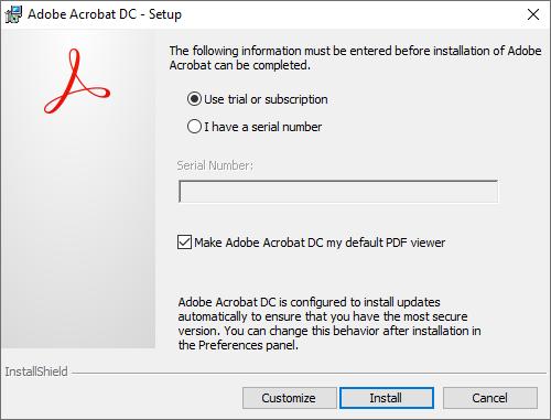 Key và cài đặt Adobe Acrobat XI Professional