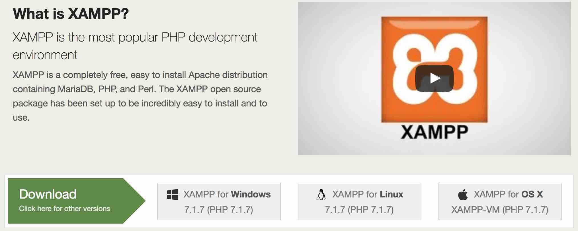 Cách tải và cài đặt phần mềm XAMPP dể tạo Webserver, Localhost