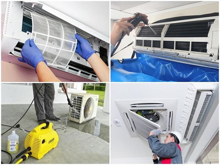 Quy trình vệ sinh máy lạnh chuyên nghiệp là phải làm đủ các bước dưới đây